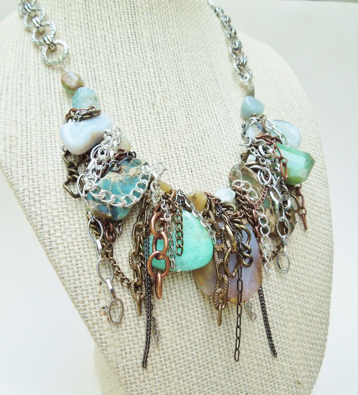 Gemstone Statment Necklace