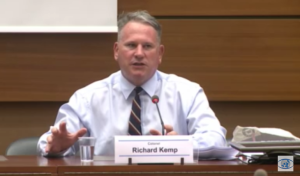 British Col. Richard Kemp addresses the UNHRC, contradicting a recent report on the 2014 Gaza war.
