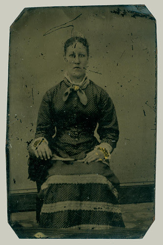 Woman with stripe skirt