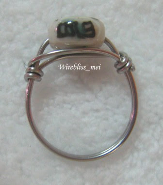 wire wrapped porcelain ring
