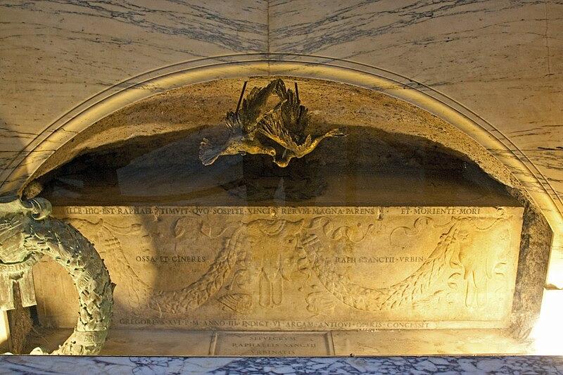 Fil: Raphael grav, Pantheon 2010.jpg