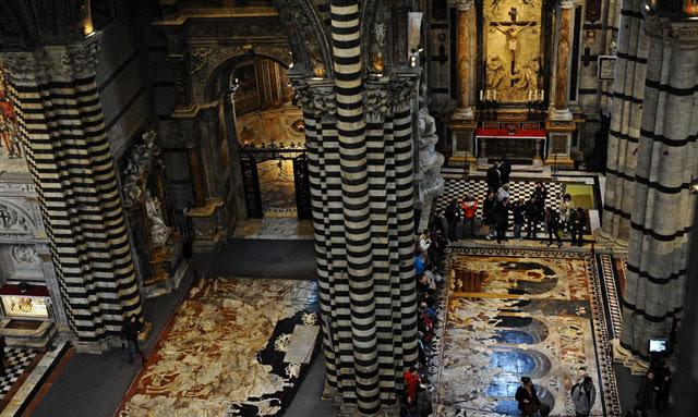 Vista de la catedral de Siena, desde las estancias abiertas al pública. | Efe [VEA MÁS IMÁGENES]