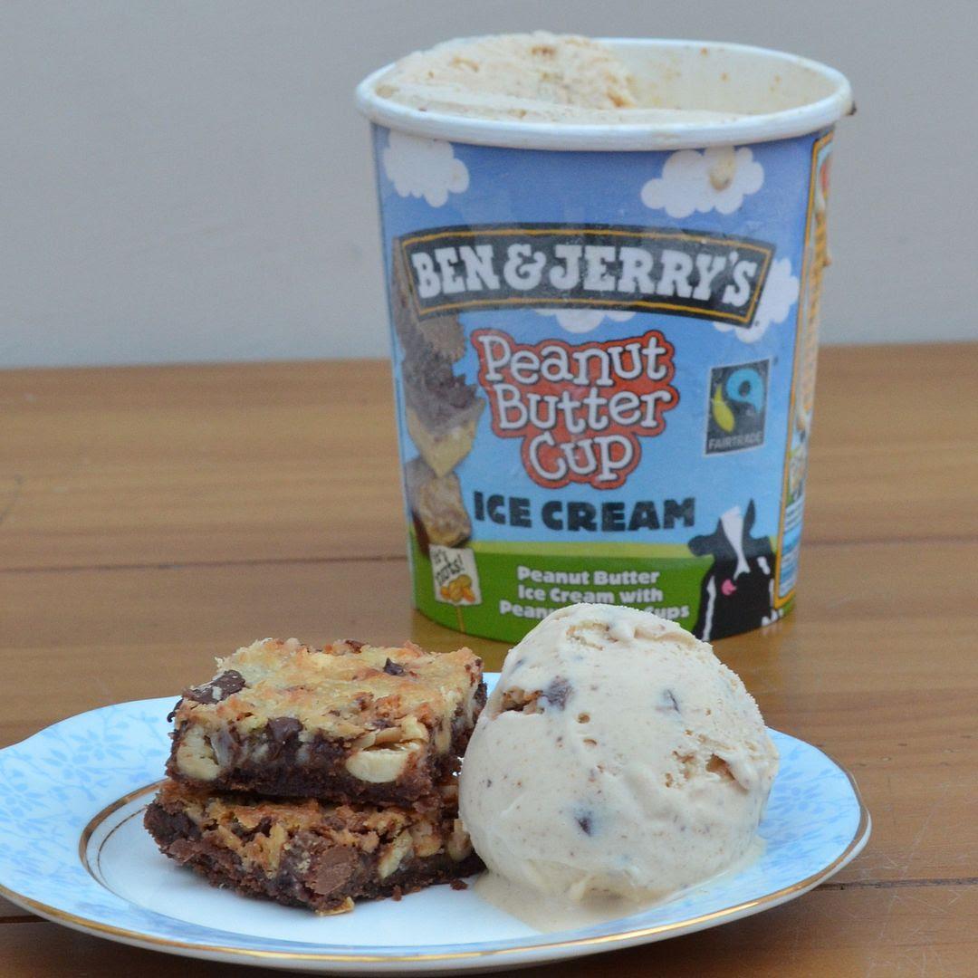 Chocolate Peanut Magic Cookie Bars