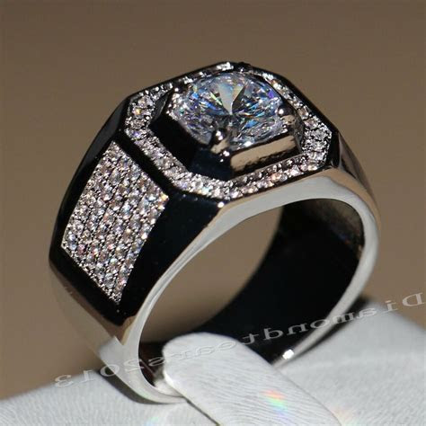 Size 7 13 Solitaire Luxury Jewelry 10kt white gold filled