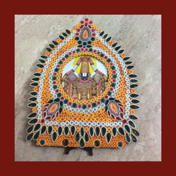 Sumartsbiz Art Craft Work By Sumathi Quilling Picture