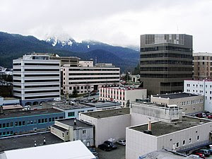 View of downtown Juneau from the Baranoff Hote...