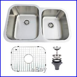 3220 Stainless Steel 6040 Double Bowl Kitchen Sink 16 Gauge