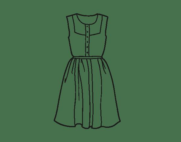 Disegni Di Vestiti Alla Moda Migliori Pagine Da Colorare