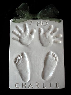 Ceramic Quad Hand/Footprint plaque by Mail Order