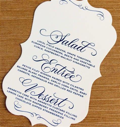 Wedding Menu Card (Orezzoli)   Menu Design Ideas   Pinterest