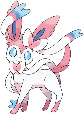 Sylveon artwork by Ken Sugimori