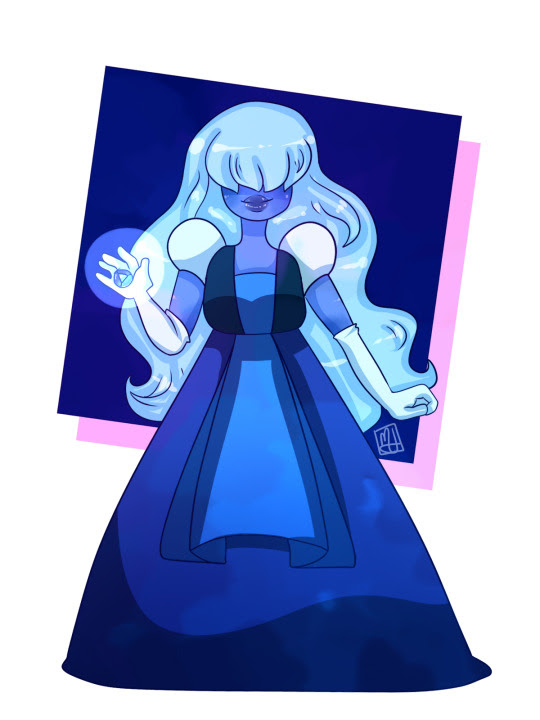 I've been watching Steven universe lately so have some sapphire fanart