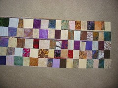postage stamp quilt: 16 strip sets