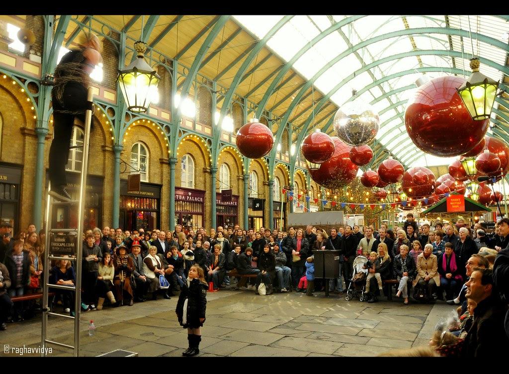 Street Performer in Covent Garden Market,London