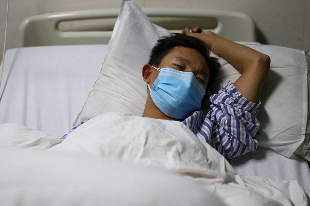 Ultimate sacrifice: As a result of his elder brother's death, Honghui (pictured), 23, successfully had a kidney transplant and doctors say he will live