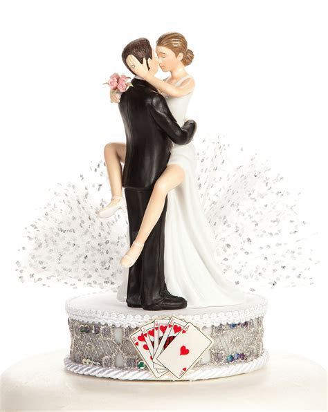 Funny Sexy Las Vegas Wedding Cake Topper   Wedding
