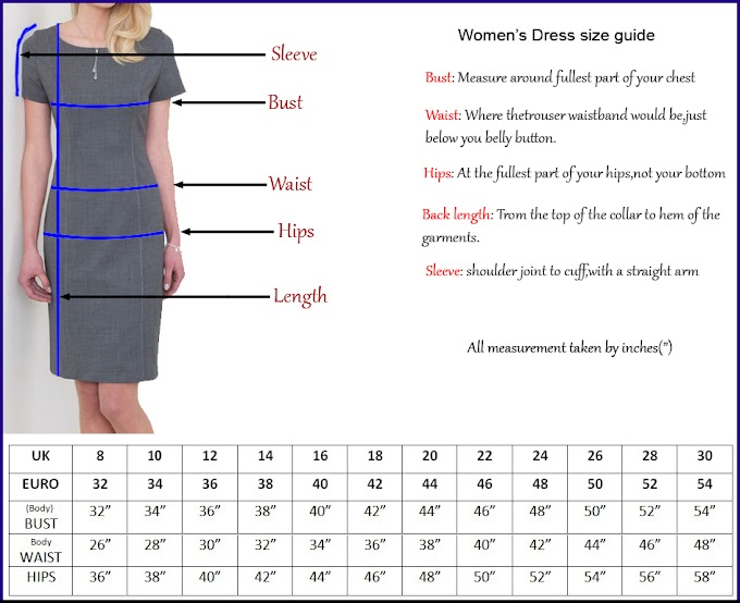 WOMEN'S CLOTHING SIZES.