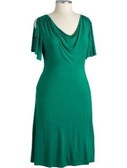 Women's Plus: Women's Plus Cowl-Neck Dresses - Bali