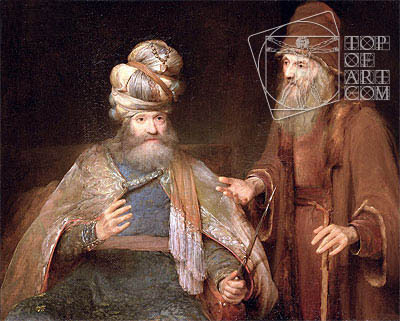 Nathan admonishes King David - Aert de Gelder - Painting Reproduction