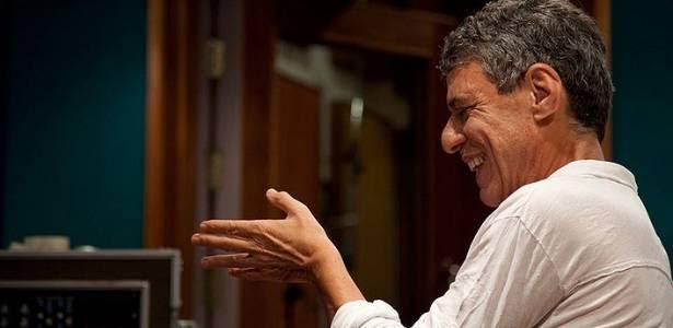 Chico Buarque durante gravação do disco Chico (2011)