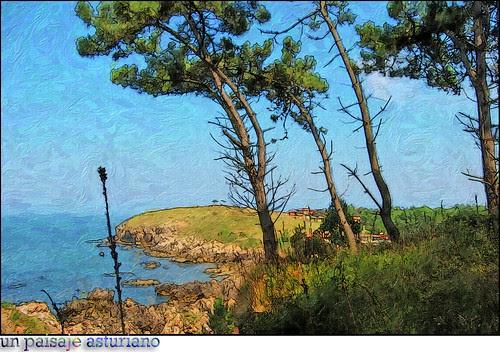 un paisaje asturiano