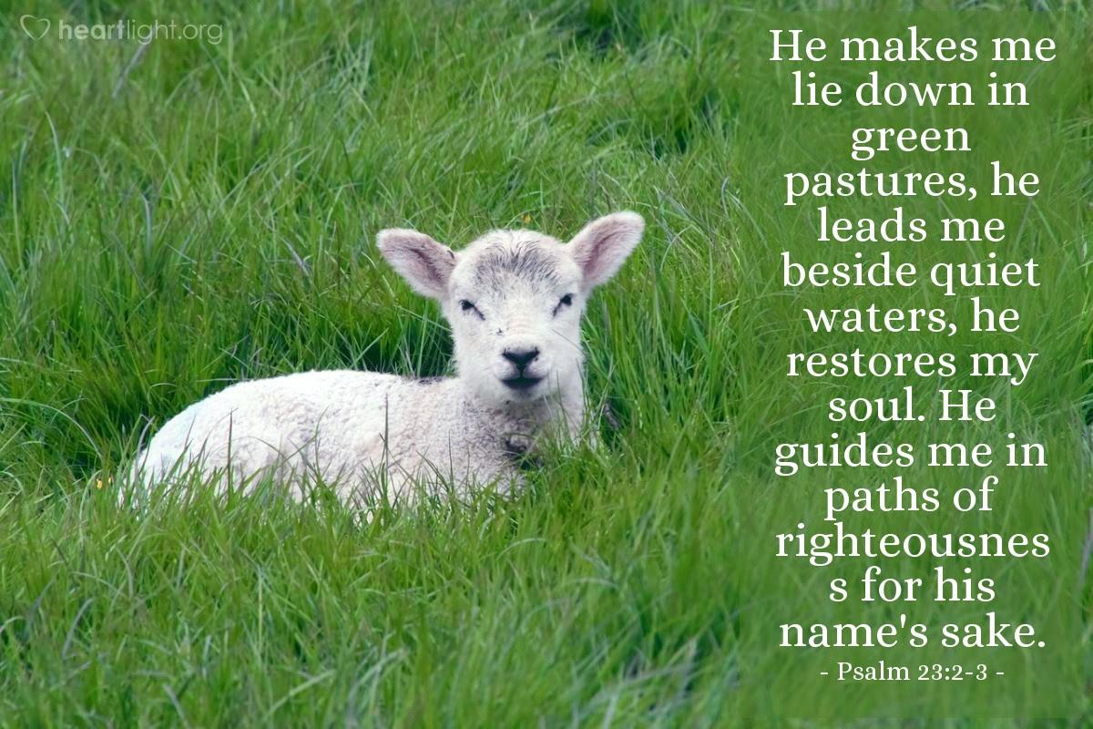 Illustration of Psalm 23:2-3