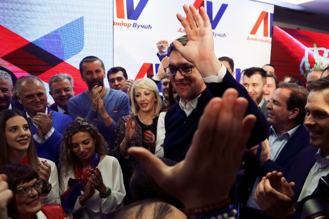 Aleksandar Vucic jug e«ridicules» les accusations d'autoritarisme portées... (PHOTO REUTERS)