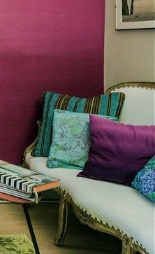 2014 Color of the Year - eclectic - living room - Valorie Hart