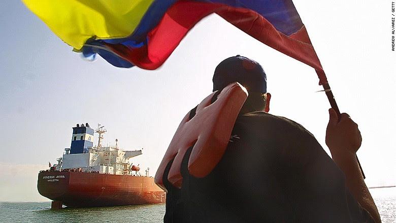 venezuela flag oil