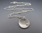 Small Disk with14K Rivet Necklace