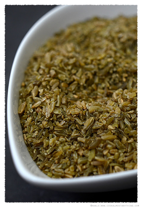Cracked greenwheat freekeh