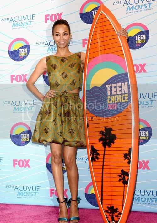 Zoe Saldana Teen Choice Awards 2012