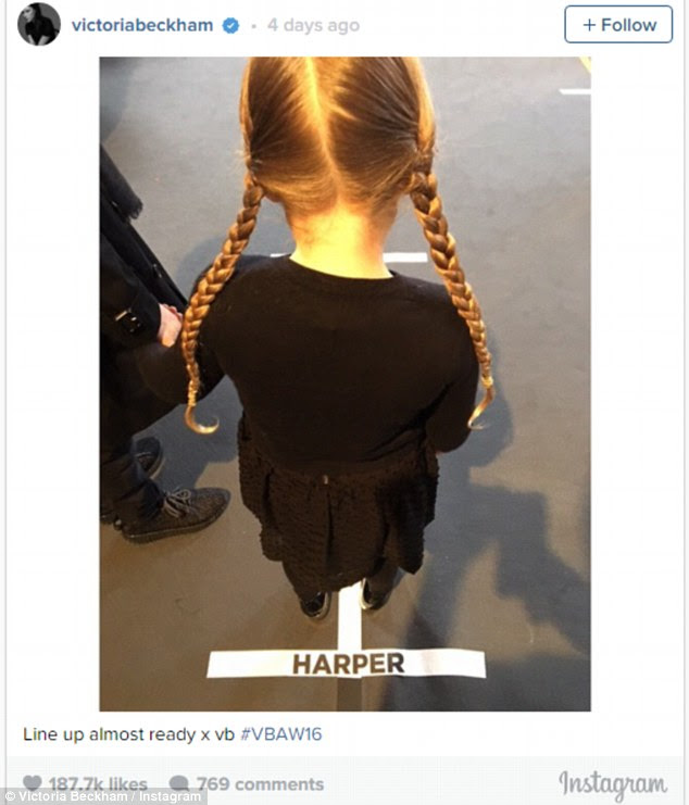 'Harper is incredibly chic'! Victoria, 41, praises her daughter's sense of style as it emerges there is a full-time style blog dedicated to the four year old