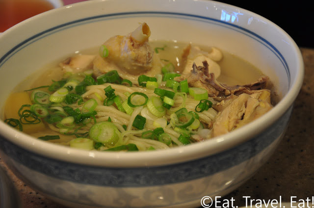 Chicken Noodle Soup with Green Onions added