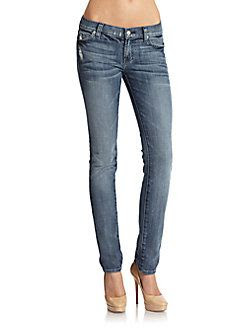 7 For All Mankind Roxanne Faded Straight Leg Jeans