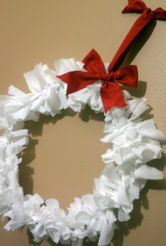 Upcycled Fabric Wreath