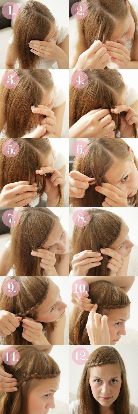 15 Braided Bangs Tutorials: Cute, Easy Hairstyles - Pretty Designs
