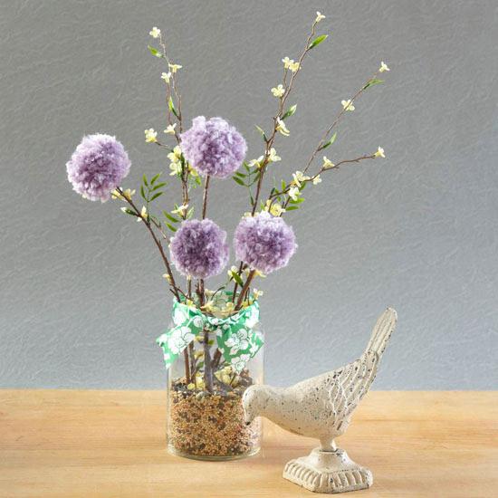 Bahar Pom-Pom Çiçek Dekorasyon