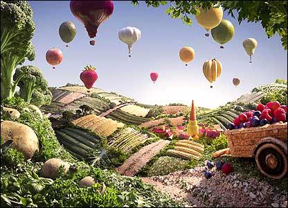 Balões de frutas
