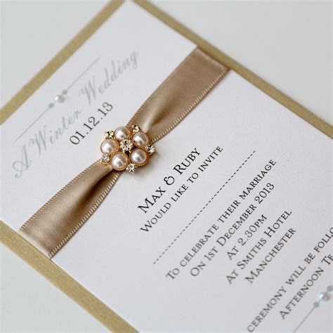 Gold Wedding Invitations Uk Royal Gold   Winter Wedding