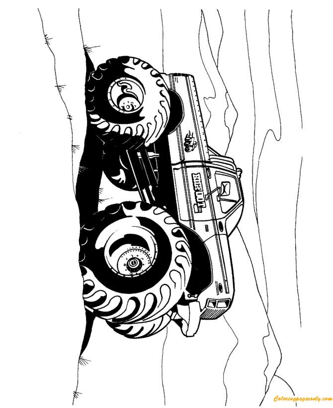 BigFoot of Monster Truck Coloring Page - Free Coloring ...