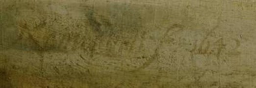 Rembrandt's signature on Night Watch signed 'Rembrandt f 1642