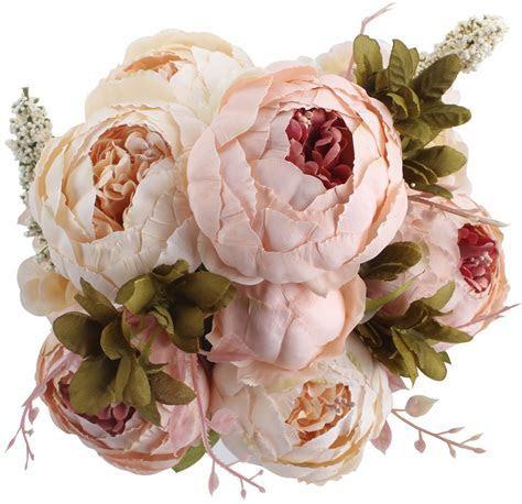 Fake Flowers Vintage Artificial Peony Silk Flower Wedding