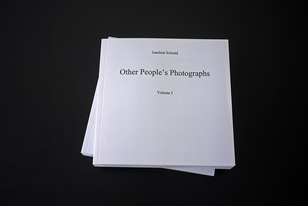 Schmid, Joachim. Other People's Photographs. 2 volumes, PoD, 2011, 400 pages.