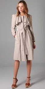 Rebecca Taylor Ruffle Duster Trench Coat