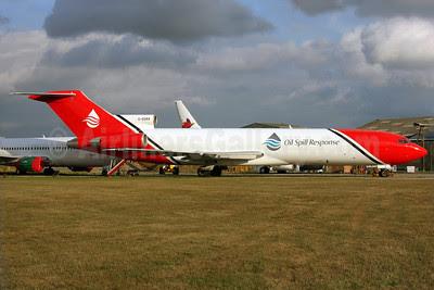 Oil Spill Response-T2 Aviation (2Excel Aviation) Boeing 727-2S2F Super 27 G-OSRA (msn 22938) QLA (Antony J. Best). Image: 913633.