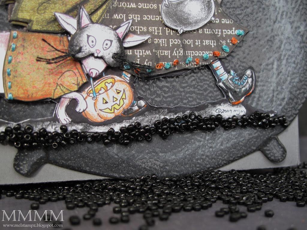 Trick or Treat Mo's Digital Pencil freebie BEADED pebble walkway mel stampz
