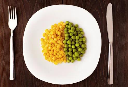 corn and peas