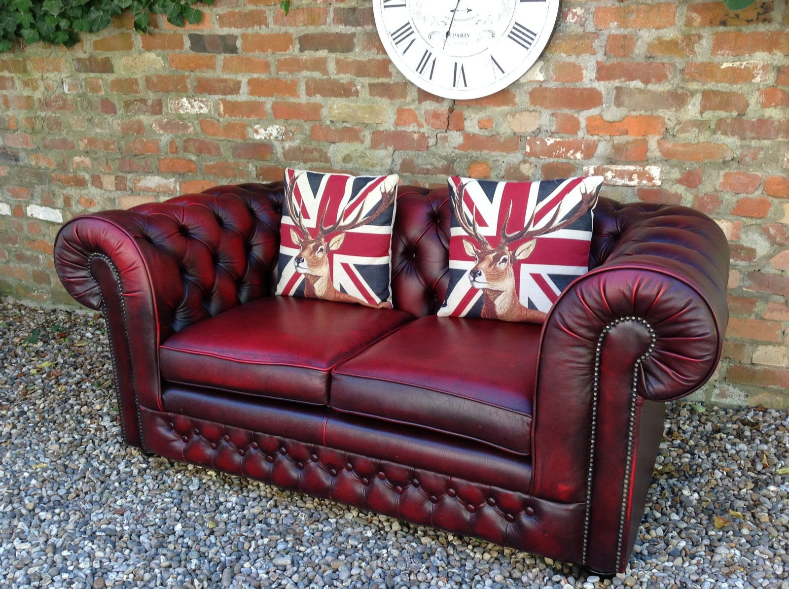 Home Sofa Oxblood Chesterfield