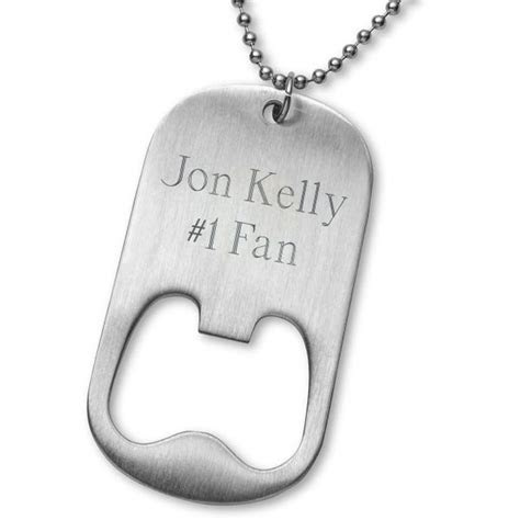 Personalized NFL Bottle Opener Dog Tag Necklace